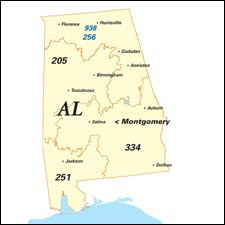 We have dial-up Internet numbers for the area codes 205, 251, 334, 938, 256 in Alabama