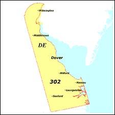 delaware zip code for area code 302