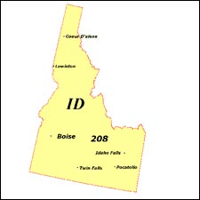We have dial-up Internet numbers for the area codes in Idaho: 208