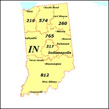 We have dial-up Internet numbers for the area codes in Indiana: 219, 574, 260, 765, 317, 812