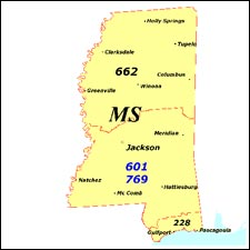 We have dial-up Internet numbers for the area codes in Mississippi: 662, 601, 769, 228