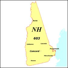 We have dial-up Internet numbers for the area codes in New Hampshire: 603