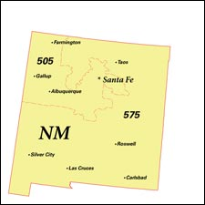 We have dial-up Internet numbers for the area codes in New Mexico: 505, 575
