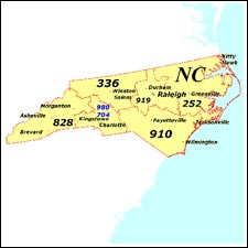 We have dial-up Internet  numbers for the area codes in North Carolina: 336, 828, 980, 984, 704,  910, 919, 252