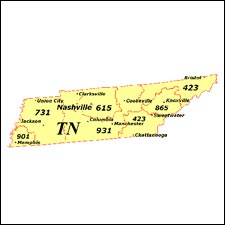 We have dial-up Internet numbers for the area codes in Tennessee: 901, 731, 615, 931, 423, 865
